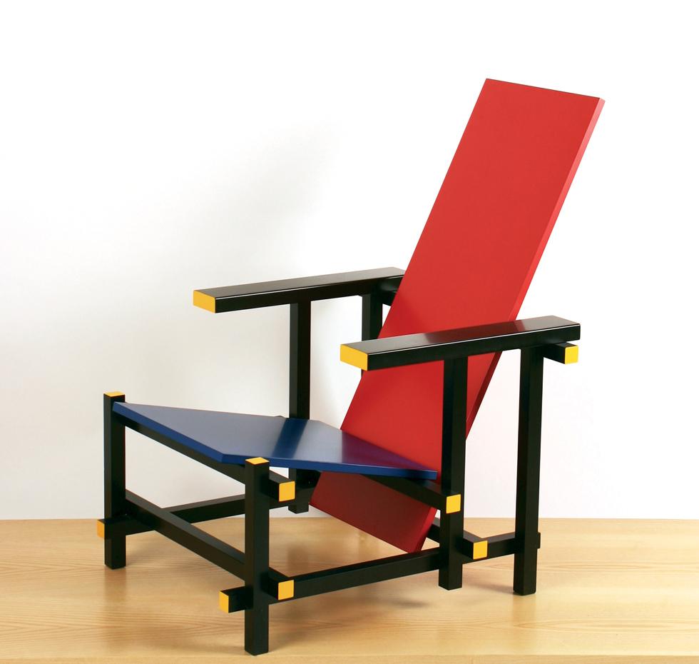 Sedia Design Rietveld.Poltrona Rietveld